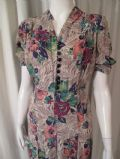 1940's Floral printed crepe vintage day dress *SOLD*